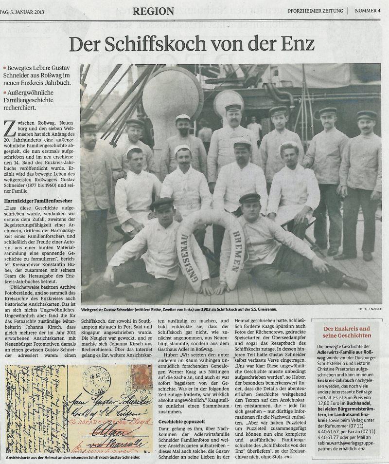 Quelle: Pforzheimer Zeitung, 5.01.2013