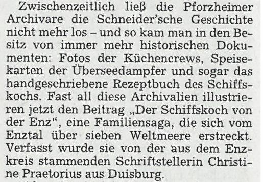 Vaihinger Kreiszeitung, 24.11.2012, Ausschnitt